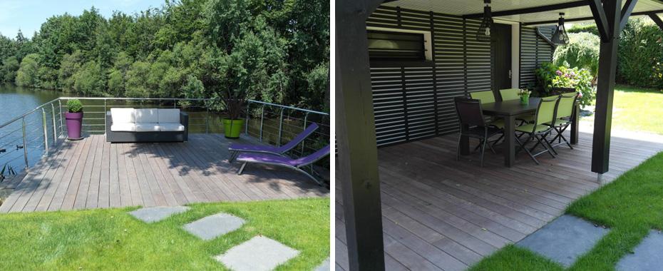 Terrasse paysagiste paysagiste blainville crevon cafe for Entretien jardin bayeux